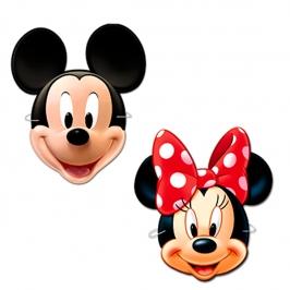 Máscaras Mickey y Minnie 4 Unidades