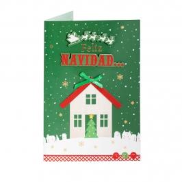Tarjeta Felicitación Navidad D