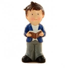 Decoracion Niño con Biblia 12cm