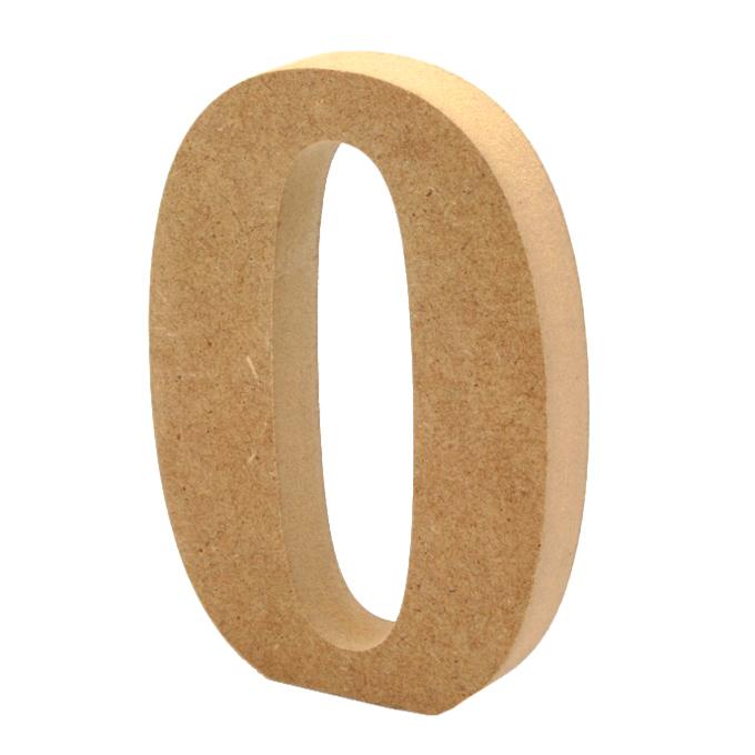 Número 0 de Madera 12 cm