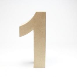 Número 1 de Cartón 17cm
