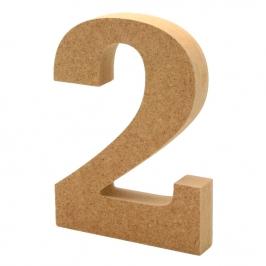 Número 2 de Madera 12cm