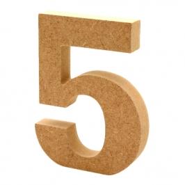 Número 5 de Madera 12cm