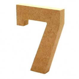 Número 7 de Madera 12cm