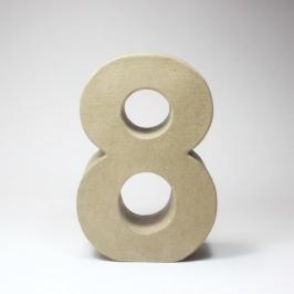 Número 8 de Cartón 17cm