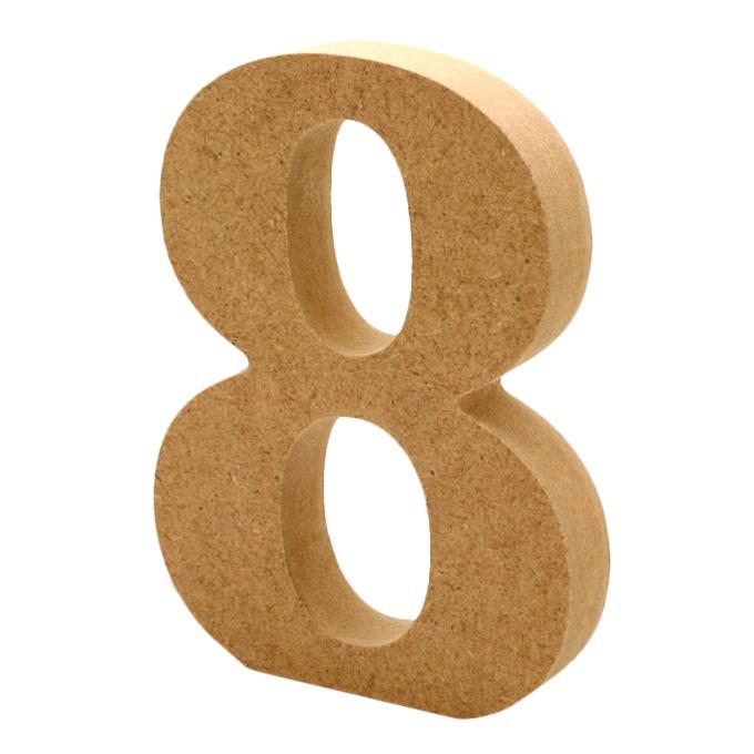 Número 8 de Madera 12 cm