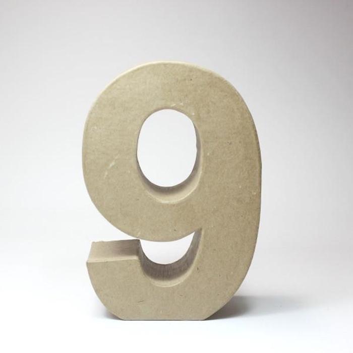 Número 9 de Cartón 17cm