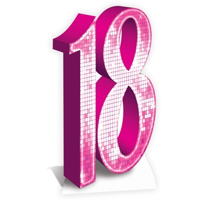 Número Decorativo 18 Años Rosa 170 cm