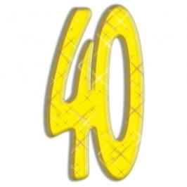 Número Decorativo 40 Años 180cm
