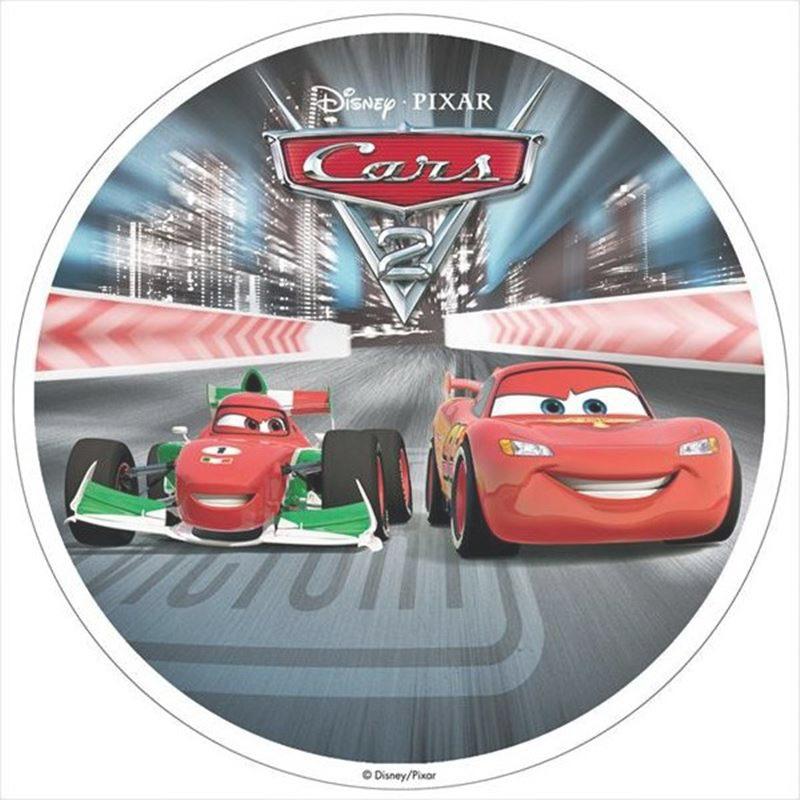 Oblea de Cars con Rayo McQueen y Francesco Bernoulli