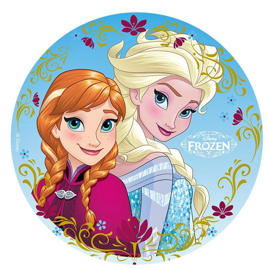 Oblea Frozen Anna Y Elsa 20 Cm My Karamelli