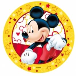 Oblea Mickey fondo amarillo