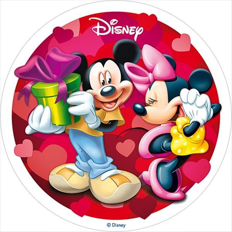 Oblea mickey y minnie enamorados 20cm my karamelli oblea mickey y minnie enamorados 20cm altavistaventures Choice Image
