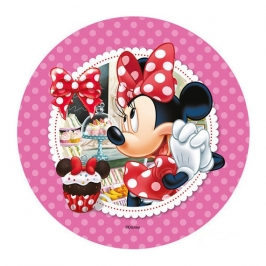 Oblea Minnie con cupcake