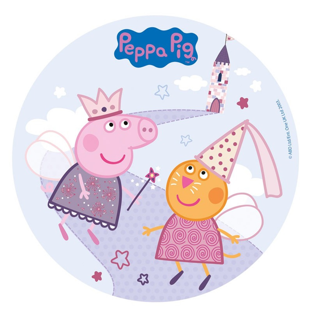 Oblea redonda Peppa Pig 20 cm Modelo D