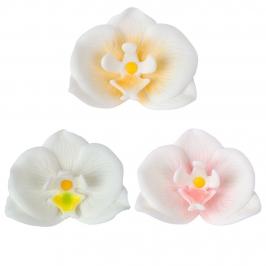 Juego de 6 Orquideas de Azúcar 7 cm - Dekora