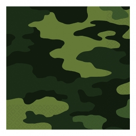 Pack 16 Servilletas Militar