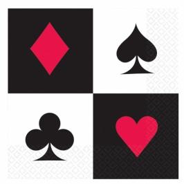 Pack 16 servilletas Poker
