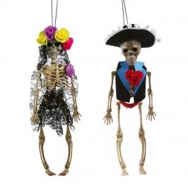 Pack 2 Esqueletos Colgantes Mexicanos 40 cm
