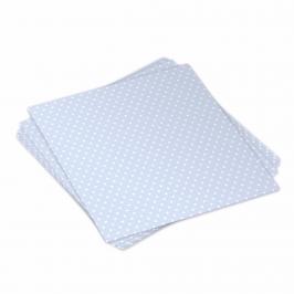 Pack 20 servilletas azules con lunares