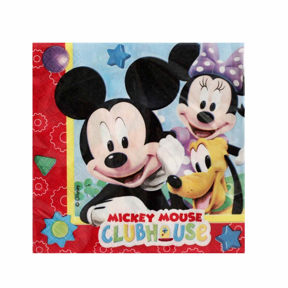 Pack 20 servilletas Mickey Mouse