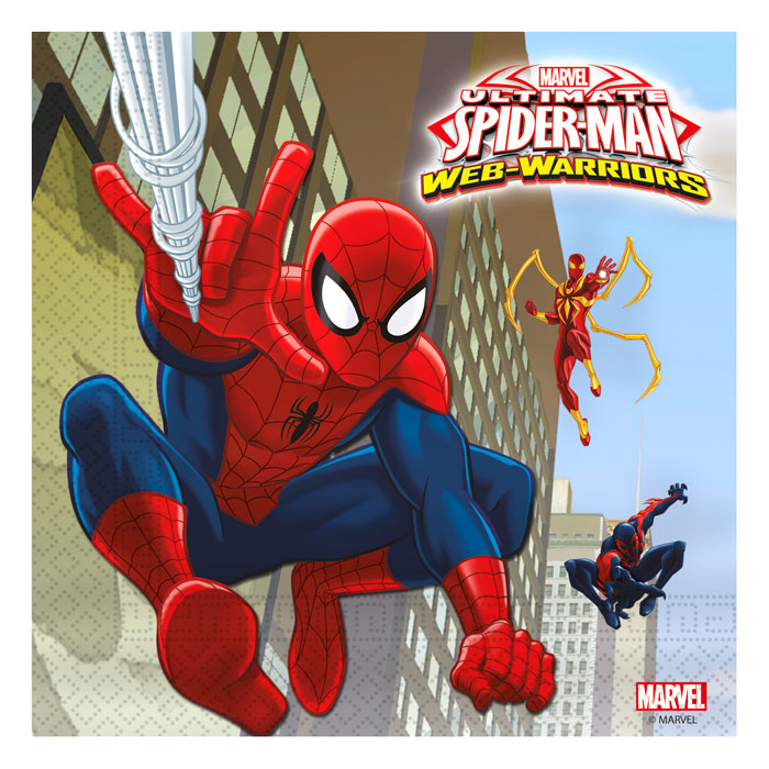 Pack 20 servilletas Spiderman