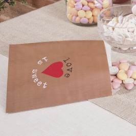 Pack 25 bolsas de papel para dulces