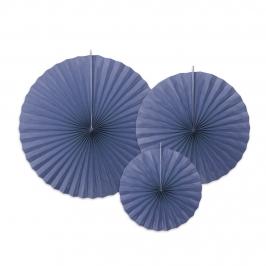 Pack 3 Abanicos Azul Marino