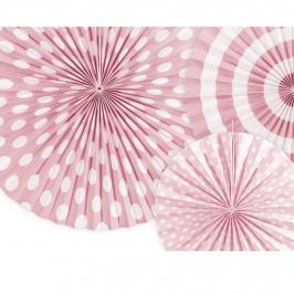 Pack 3 Abanicos Rosas Estampados