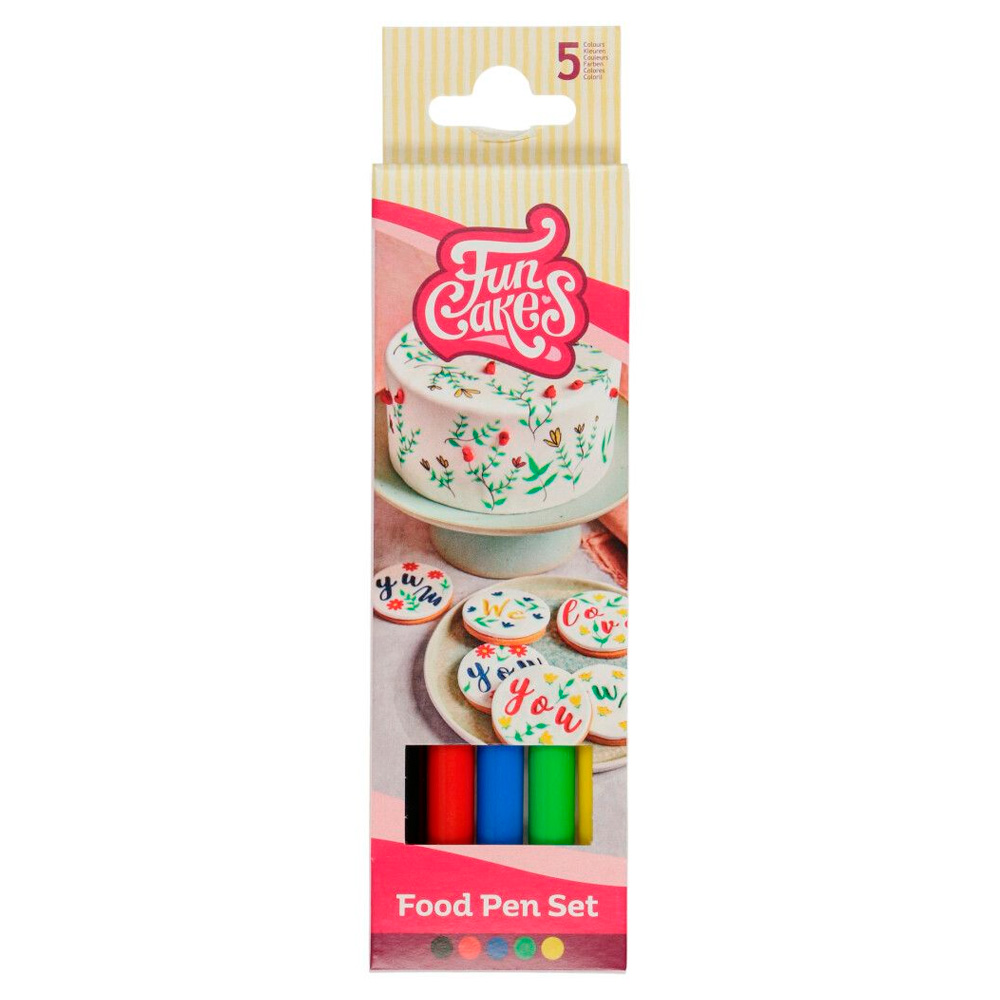 Pack 5 Rotuladores Comestibles Funcakes