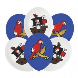 Pack 6 globos Fiesta Pirata 27cm