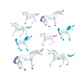 Pack 8 Figuras Unicornio Multicolor