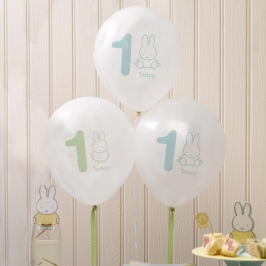 Pack 8 globos 1 año Baby Miffy