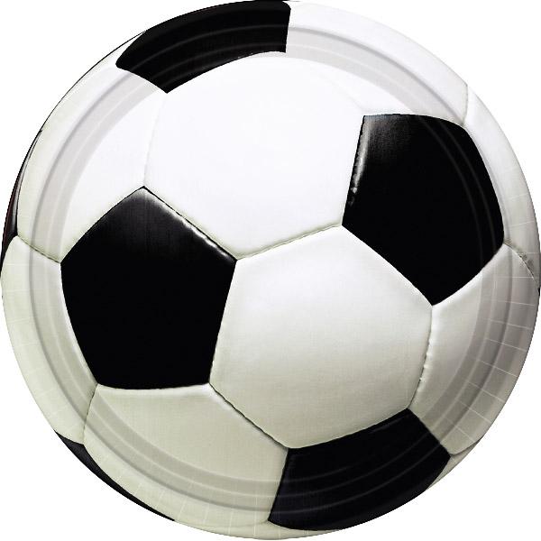 Pack 8 platos Balón de Fútbol 22,8cm - My Karamelli