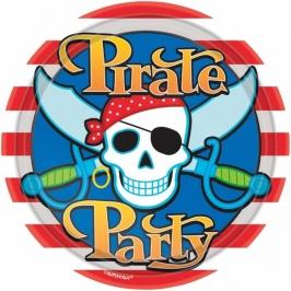 Pack 8 platos Fiesta Pirata 22cm