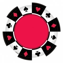 Pack 8 platos Poker 26cm