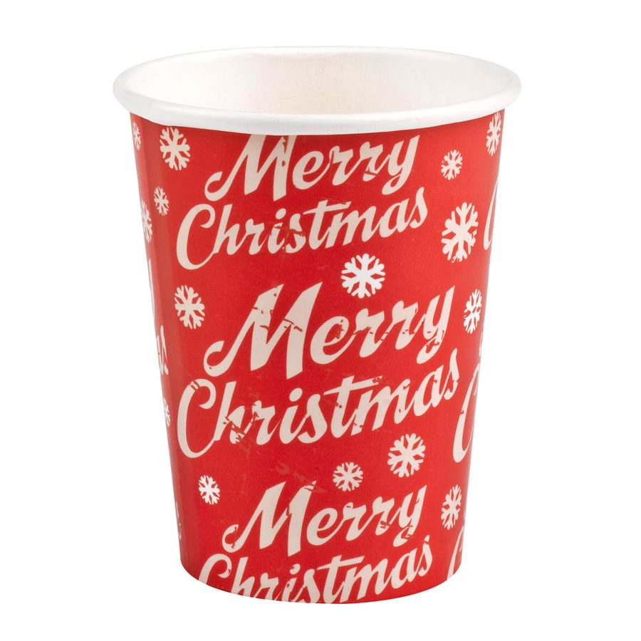 Pack 8 vasos Merry Christmas
