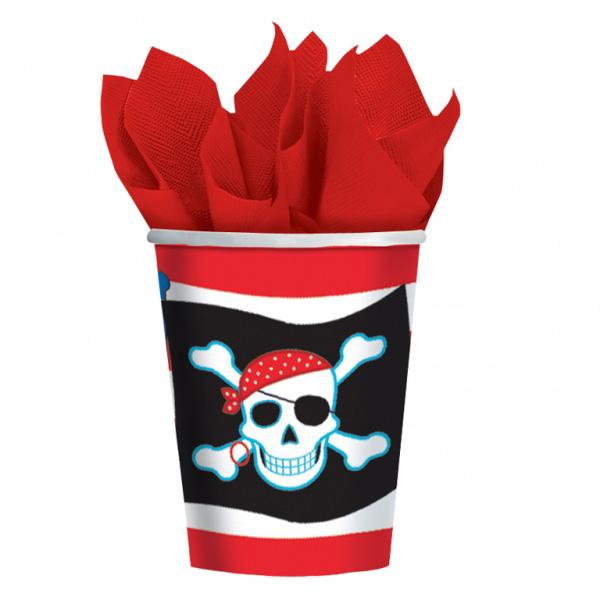 Pack 8 vasos Pirata 266ml