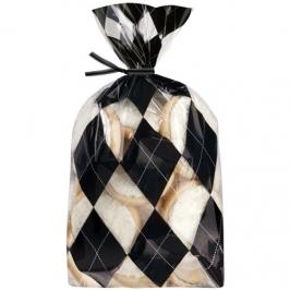 Pack de 20 Bolsas para Dulces Argyle Black