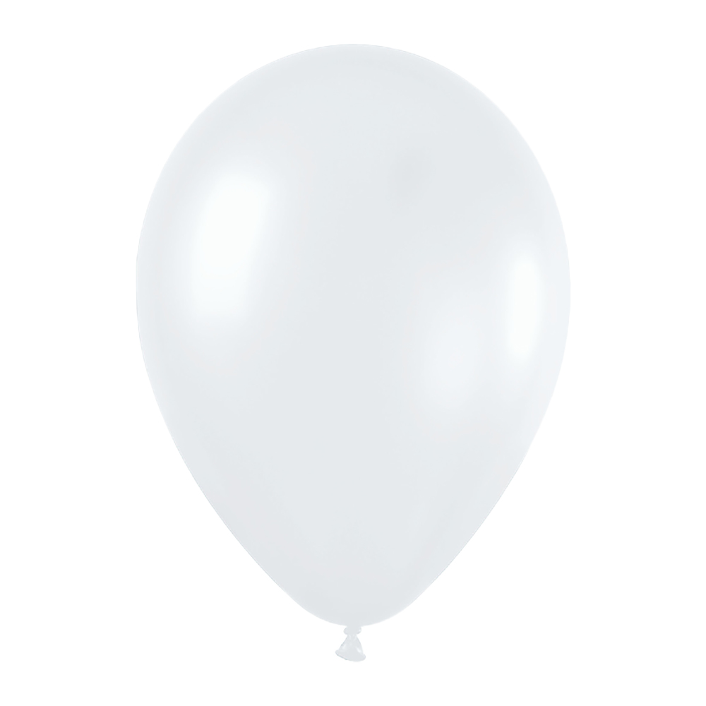 Pack de 10 globos color blanco satinado