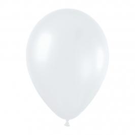 Pack de 10 globos color blanco satinado