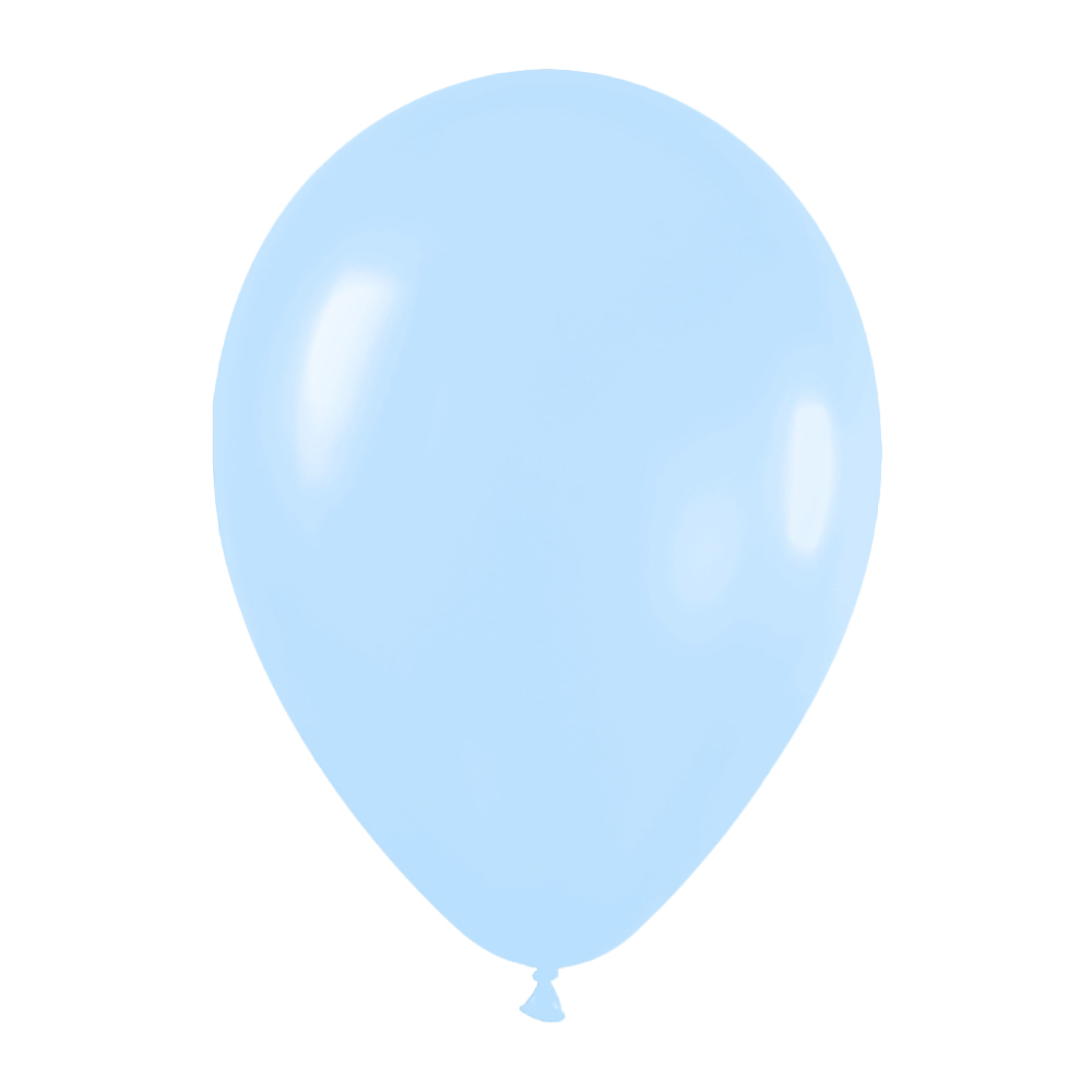 Pack de 10 globos de látex azul pastel