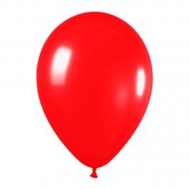 Pack de 10 globos de látex color rojo metalizado