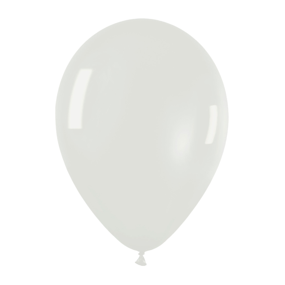 Pack de 10 globos de látex cristal color transparente
