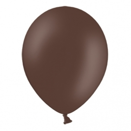 Pack de 10 Globos de Látex Marrón Chocolate Pastel