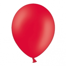 Pack de 10 Globos de Látex Rojo Pastel