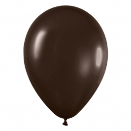 Pack de 100 Globos Chocolate Metalizado 12cm