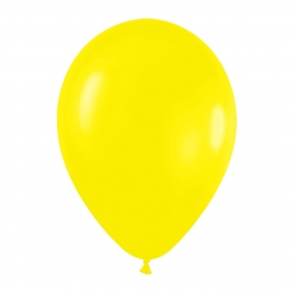 Pack de 100 globos color Amarillo Mate 12cm