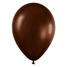 Pack de 100 Globos Color Chocolate 12 cm