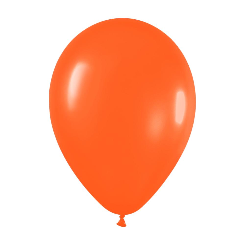 Pack de 100 globos color Naranja Mate 12cm